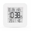 Электронный термометр-гигрометр с часами T-19 белый