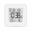 Электронный термометр-гигрометр с часами T-19 серый