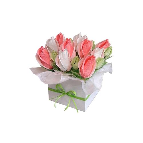 букет цветы из конфет подарок любимой влюбленные