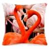 Подушка декоративная 40х40 см Фламинго