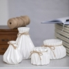 Набор декоративных ваз Алхимия 2801-2805 белый