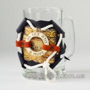 Кружка для пива в кожаном футляре Макей 531-08-02