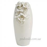 Керамическая ваза Ирисы платина 38 см