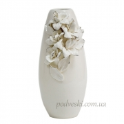 Керамическая ваза Ирисы платина 32 см