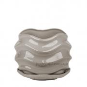 Горшок керамический для растений Волна PT 201-16 SK