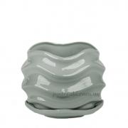 Горшок керамический для растений Волна PT 201-16 GW