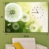 Настенные часы-картина Одуванчики 48х68 см