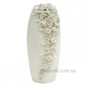 Керамическая ваза Патио белая 38 см