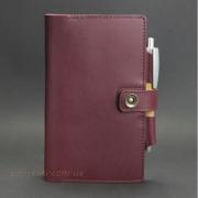 Кожаный блокнот, софт-бук 4.0 Виноград