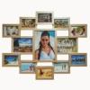 Коллаж из деревянных фоторамок Симметрия Яркий беж