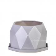 Цветочный горшок керамический серая платина ETERNA PT 202-13,5 GP