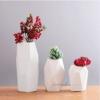 Набор керамических ваз Полигональный White