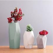 Набор керамических ваз Полигональный 2