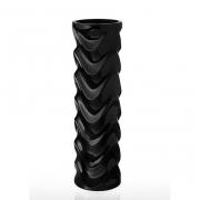 Ваза керамическая черная Eterna Волна 0004B