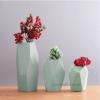 Набор керамических ваз Полигональный Green