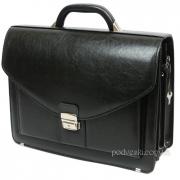 Мужской портфель кожзам Jurom 0-37-111 чёрный