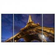 Картина модульная на холсте Ночной Париж