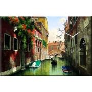 Настенные часы на холсте Венеция 40х60 см