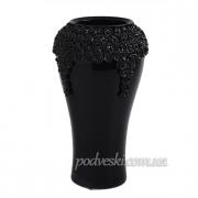 Ваза керамическая Пена черная 38 см