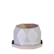 Цветочный горшок керамический серый кварц ETERNA PT 202-7,5 GQ