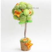 Деревце-топиарий декоративный Очаровательный с бабочками