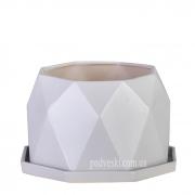 Цветочный горшок керамический серый кварц ETERNA PT 202-13,5 GQ