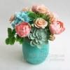 Декоративный букет из полимерной глины Радость