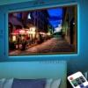Картина с LED-подсветкой Ночные улочки