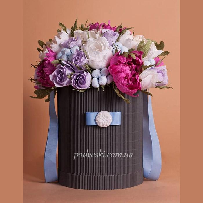букет в коробке свадебный подарок купить Киев