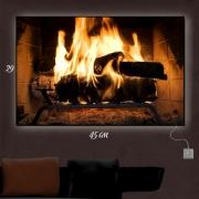Картина-светильник Тепло камина