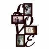 Мультирамка деревянная LOVE на 4 фото венге