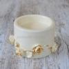 Керамический подсвечник Офелия с золотом 7 см