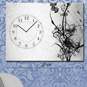 Настенные часы на холсте Узоры