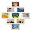 Деревянная фоторамка-коллаж Фантазия на 9 фото белая