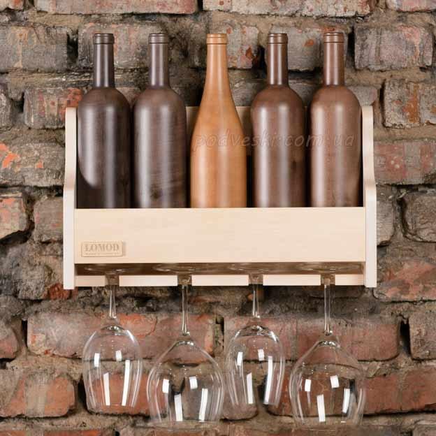 полка для вина деревянная подарок в интерьер свадебный подарок