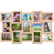Мультирамка деревянная История на 15 фото