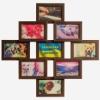 Деревянная фоторамка-коллаж Фантазия на 9 фото венге