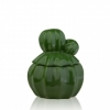 Декор керамический шкатулка Кактус Eterna WW 2704-15 зеленая