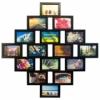 Деревянная фоторамка-коллаж Фантазия на 16 фото черная