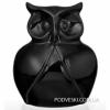 Статуэтка Сова керамическая черная K8139-18-B