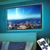 Картина с LED-подсветкой Небо над мегаполисом