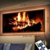 Картина с LED-подсветкой Тепло камина