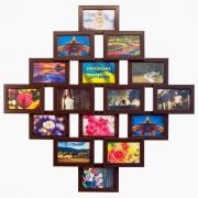 Деревянная фоторамка-коллаж Фантазия на 16 фото венге