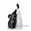 Статуэтка Слоны из керамики черно-белые Eterna C10-10