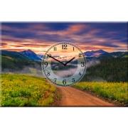 Настенные часы на холсте Дорога