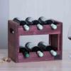 Стеллаж деревянный для вина Marsan красный