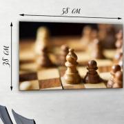 Картина на натуральном холсте Шахматы
