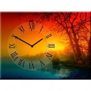 Настенные часы на холсте Зимняя фантазия
