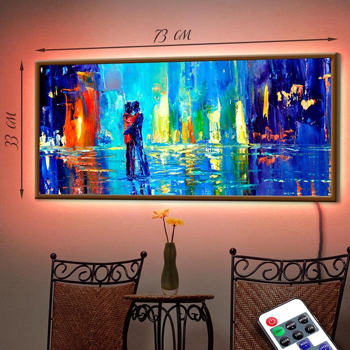 картина с подсветкой подарок на свадьбу купить
