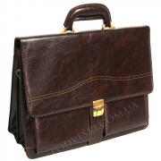 Портфель мужской кожзам 4U Cavaldi B-005 коричневый